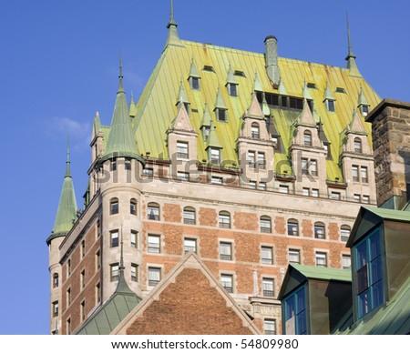 Chateau Frontenac, Quebec City - stock photo