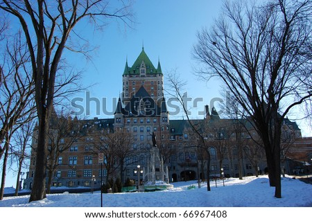 Chateau Frontenac, Quebec City, Canada - stock photo