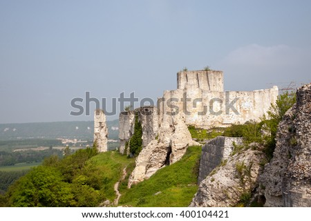 Chateau Gaillard, ruins of famous castle of Richard the Lionheart, Normandy