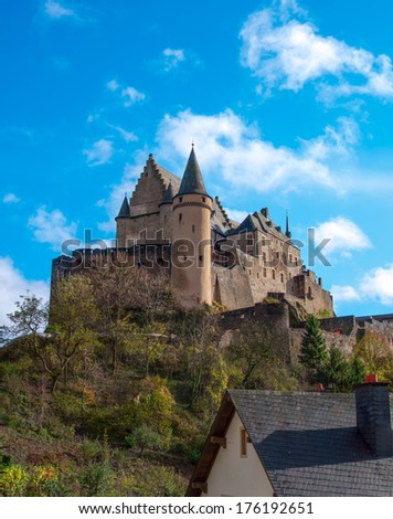 Chateau in Vianden - stock photo