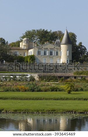 Chateau Lafite Rothschild, Bordeaux - stock photo