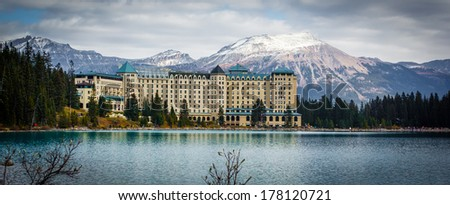 Chateau of Lake Louise  - stock photo