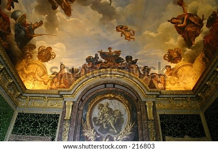 Chateau of Versailles, Paris, France, the interior - stock photo