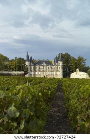 Chateau Pichon Llongueville Baron - stock photo