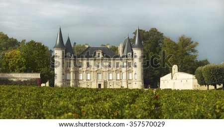 Chateau Pichon Longueville Baron - stock photo