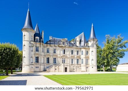 Chateau Pichon Longueville, Bordeaux Region, France - stock photo