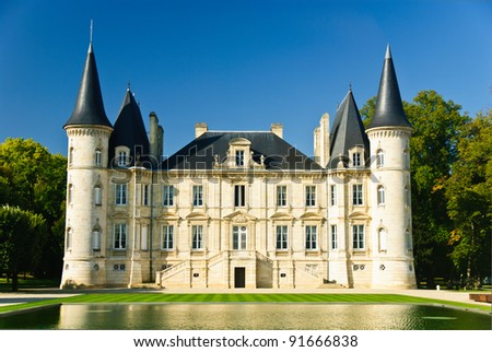 Chateau Pichon Longueville in region Medoc, France - stock photo