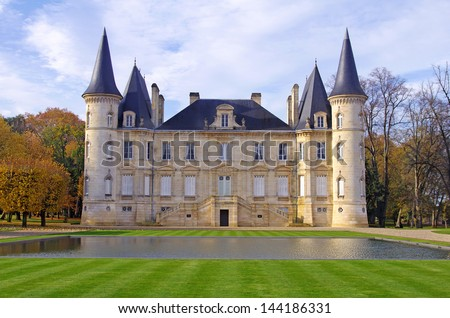 Chateau Pichon Longueville, m�©doc, france - stock photo