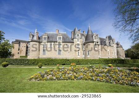 Chateaubriant Chateau, Brittany, Northern France - stock photo