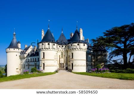Chaumont-sur-Loire Castle, Centre, France - stock photo