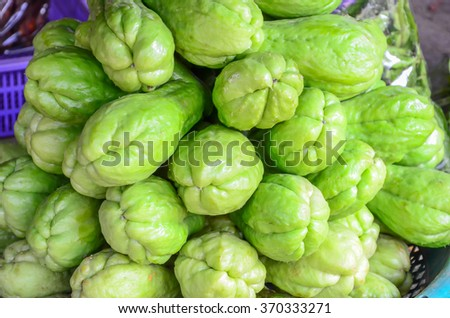 Chayote in  market