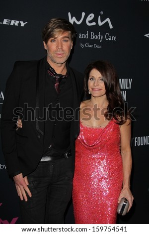 Chaz Dean and Joanne Dean at the Pink Party 2013, Hangar 8, Santa Monica, CA 10-19-13 - stock photo