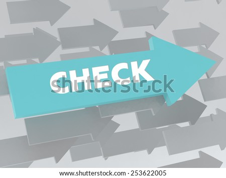 CHECK - stock photo