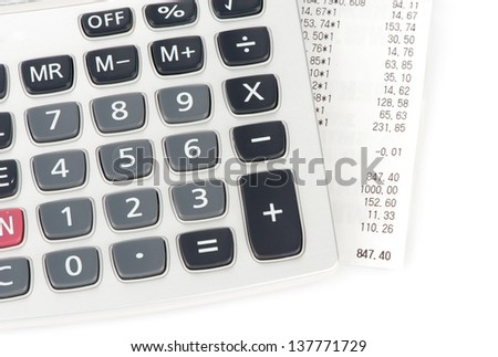 check and calculator - stock photo