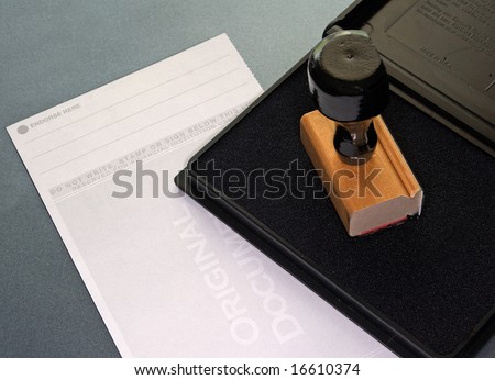 Check and endorsement pad - stock photo