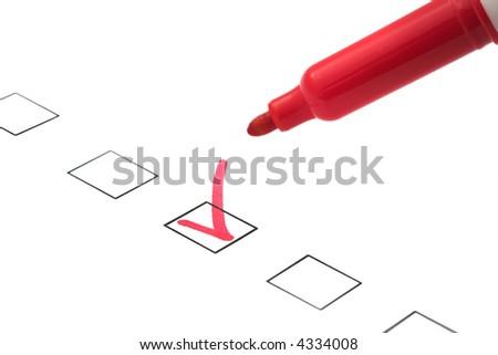 check box - stock photo