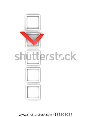 check boxes and check mark - stock photo
