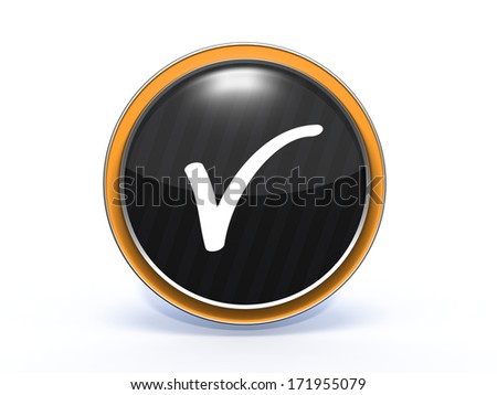 check circular icon on white background