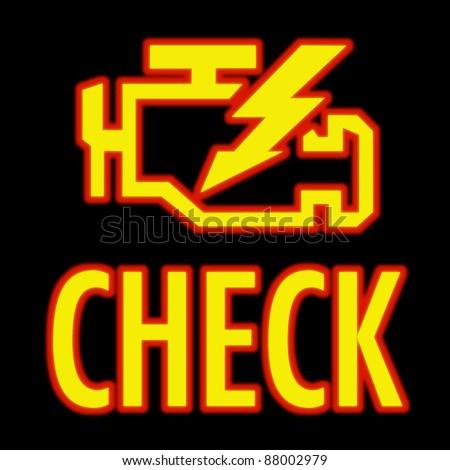Check Engine Light Symbol That Pops Stock Photo Royalty Free
