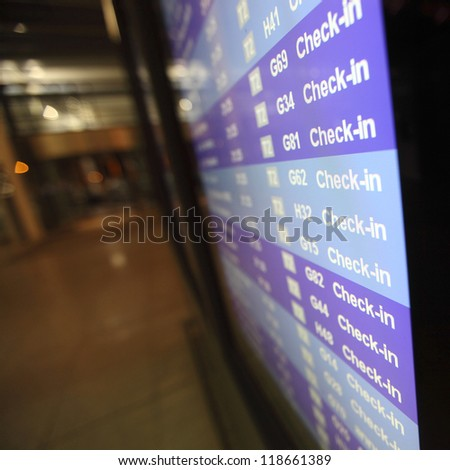 check in desk in airport - stock photo