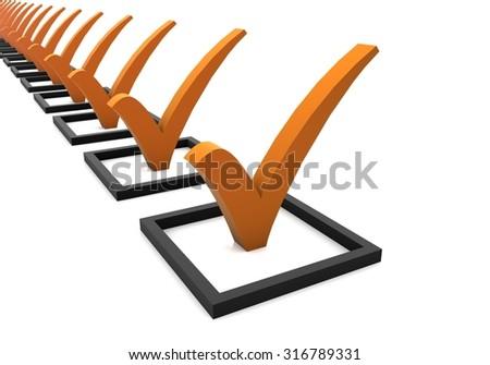 Check List - stock photo