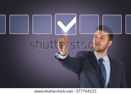 Check List on Screen - stock photo