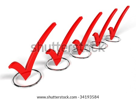 Check list Symbol (3D rendering) - stock photo