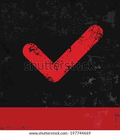 Check list symbol,grunge design - stock photo