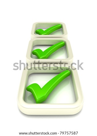 Check list Symbol over white . 3d rendered image - stock photo