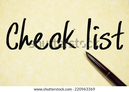check list text write on paper  - stock photo