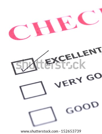 Check list with a ticked box  - stock photo