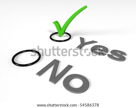 check list with green choice mark - stock photo