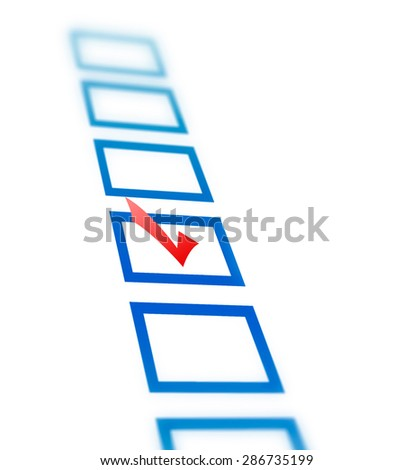 Check list with red check mark isolated on white - stock photo