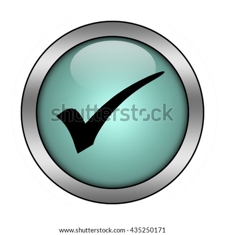 check mark button isolated - stock photo
