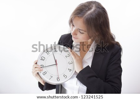 Check out our new business hours - stock photo