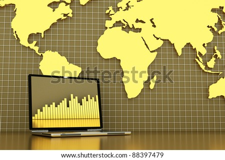 check the changes of the your bank account - stock photo