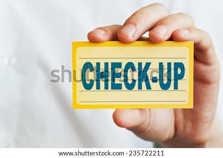 Check-up. Medical concept - stock photo