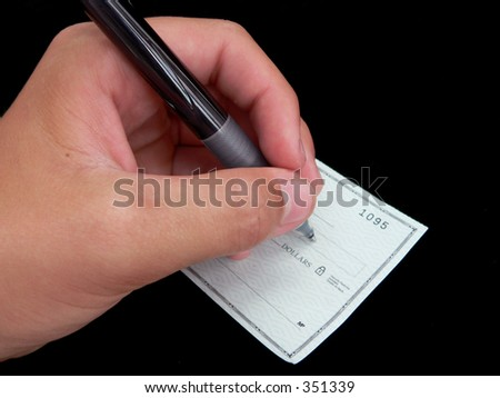 Check Writing - stock photo