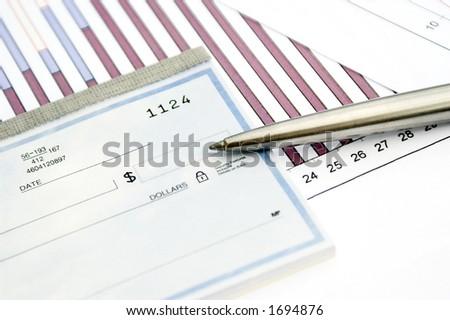 checkbook - stock photo