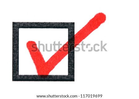 checkbox with a tick - stock photo