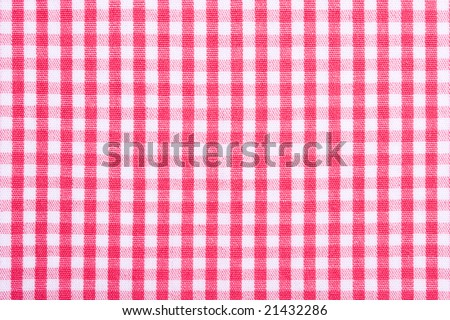 checked fabric - stock photo