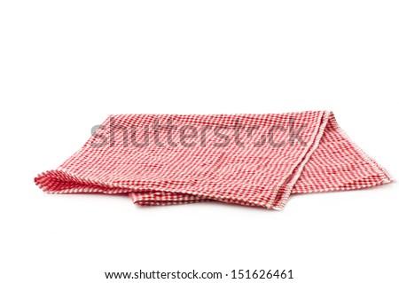 checked napkin - stock photo