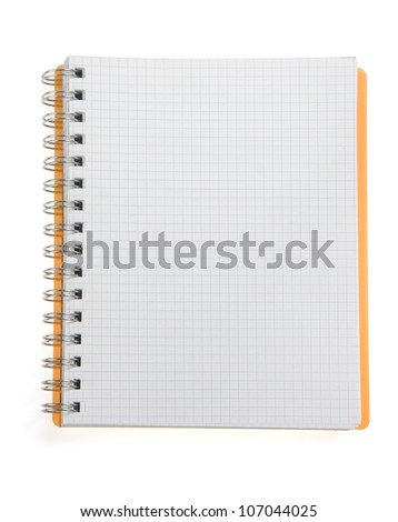 checked notepad  isolated on white background - stock photo