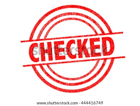 CHECKED Rubber Stamp over a white background.