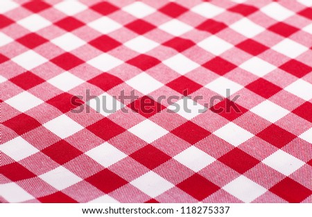 Lovely Checked With Red And White Tablecloth