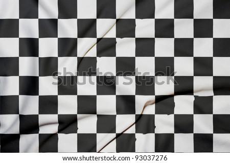 Checker flag background - stock photo
