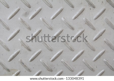 checker plate floor surface texture steel grip metal grating - stock photo