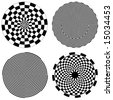 Checkerboard Spirals. 