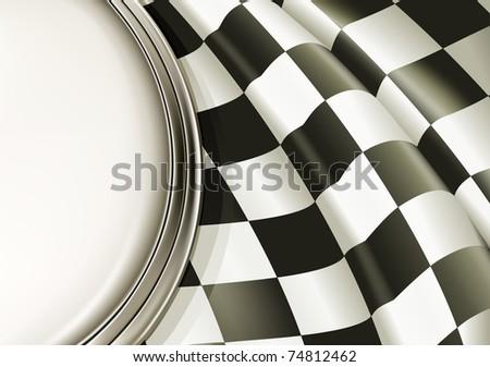 Checkered Background, bitmap copy - stock photo
