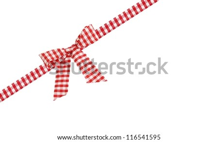 checkered bow - stock photo